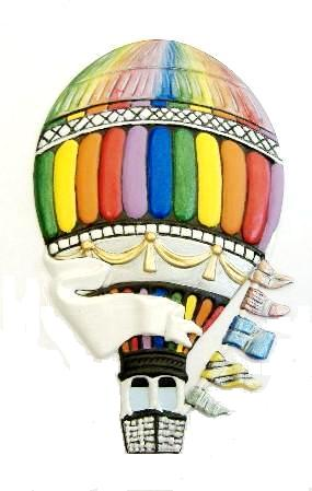 Hot Air Balloon Custom Painted, Refrigerator Magnets Personalized, Ornament Custom Painted, Gifts, Decor