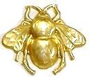Brass Bee, Small Magnet - Ornament