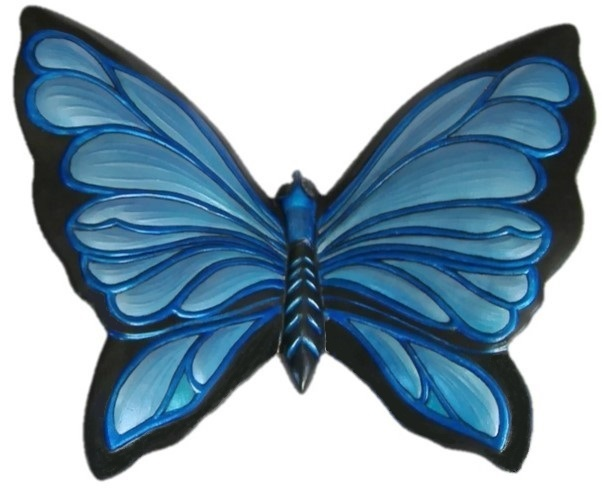 Blue Butterfly Hand-Painted