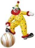 Clown Playful Handpainted, Ornaments Custom Painted, Refrigerator Magnets Handpainted, Gifts