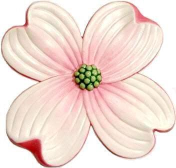 Dogwood Blossom, Hand-Painted Magnet - Ornament