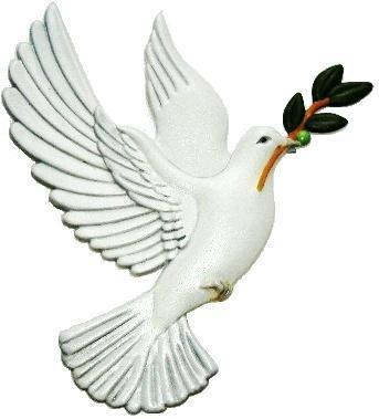 Dove, Hand-Painted Magnet - Ornament