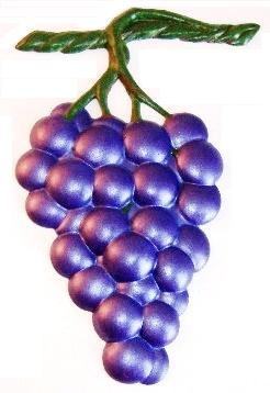 Grape Bunch, Hand-Painted Magnet - Ornament