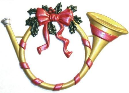 Holiday Horn, Custom Hand-Painted