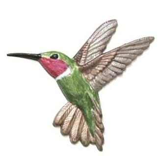 Hand-Painted Hummingbird Magnet.