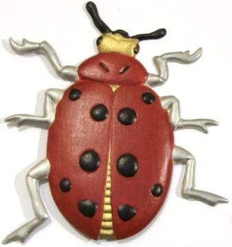 Ladybug, Hand-Painted Magnet - Ornament
