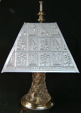 Handcrafted metal lamp shade country folks