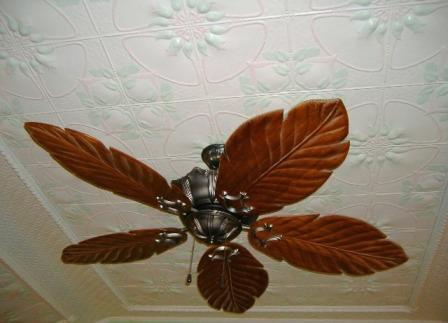 Jasmine Hand and Custom-Painted Metal Ceiling Panels