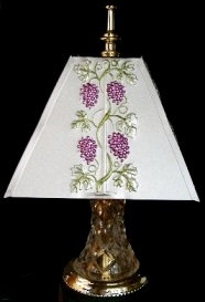 Metal Lamp Shade, Handcrafted, Handpainted