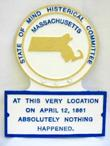 MA Novelty State Plaque Hand-Painted SMALL