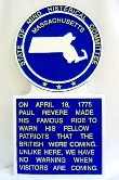 Massachusetts Novelty State Plaque Hand-Painted Large