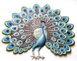 Hand-Painted Peacock Fridge Magnet, Decorative Oranment