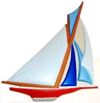 Sailboat, Custom Hand-Painted