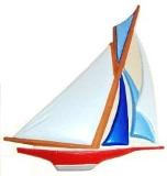 Sailboat, Custom Hand-Painted Magnets, Ornaments, Gifts, Decor
