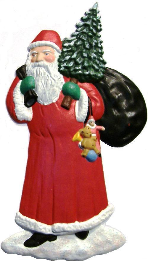 Santa, Hand-Painted Magnet - Ornament