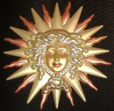 Sun God, Custom Hand-Painted Magnets, Ornaments, Gifts, Decor