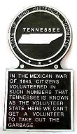 Tennessee Novelty State Plaque Hand-Painted Large