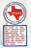 Texas Novelty State Plaque Hand-Painted Large