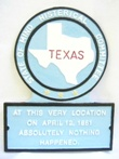 TX Novelty State Plaque Hand-Painted SMALL