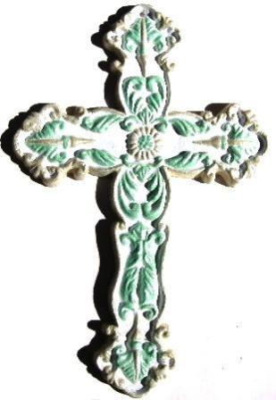 Cross Victorian Hand-Painted